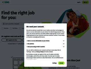xing.com screenshot