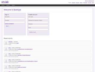 xmlab.booktype.pro screenshot