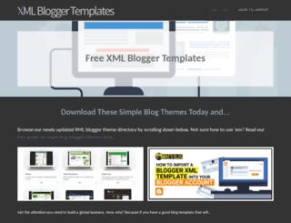 xmlbloggertemplates.com screenshot