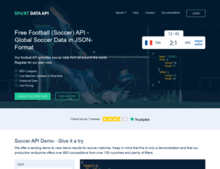 xmlsoccer.com screenshot