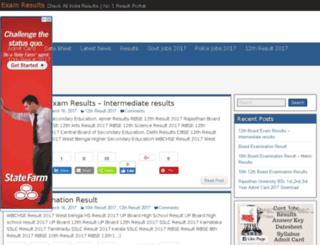 xmresults.in screenshot