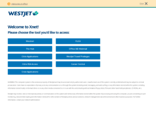 xnet.westjet.com screenshot