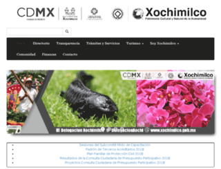 xochimilco.df.gob.mx screenshot