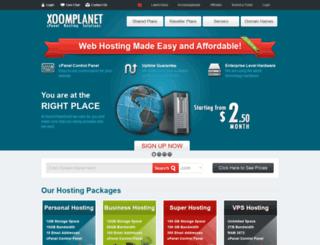 xoomplanethost.com screenshot