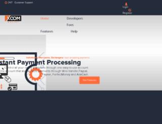 xoomwallet.com screenshot
