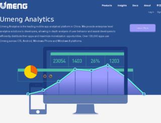 xp.umeng.com screenshot