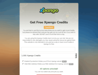 xpango.com-cheat.in screenshot