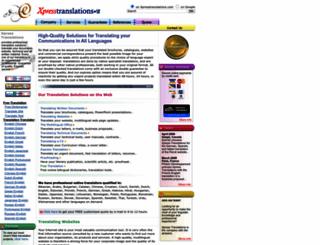 xpresstranslations.com screenshot