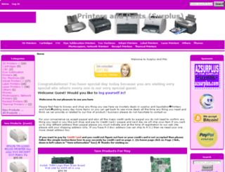 xprinterparts.com screenshot
