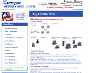 xstampersuperstore.com screenshot