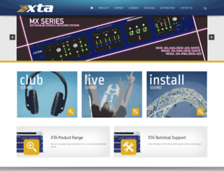 xta.co.uk screenshot