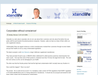 xtendlife.squarespace.com screenshot