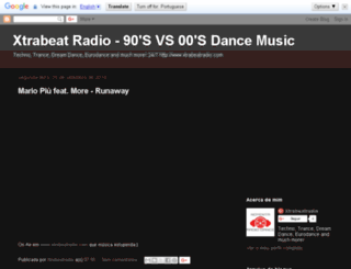 xtrabeat-radio.blogspot.pt screenshot