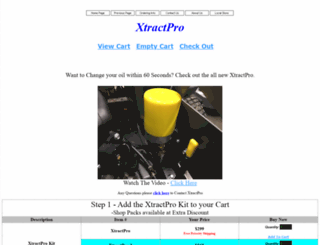 xtractpro.com screenshot