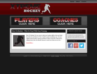 xtremehockeytraining.com screenshot