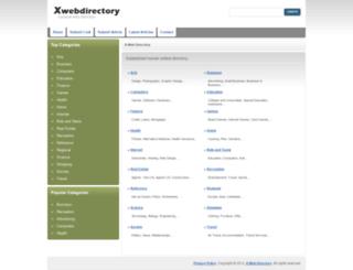 xwebdirectory.com screenshot