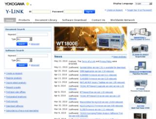 y-link.yokogawa.com screenshot