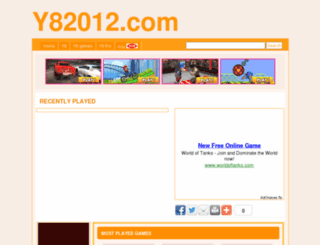 y8games2012.com screenshot