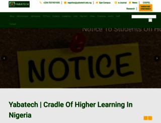 yabatech.edu.ng screenshot