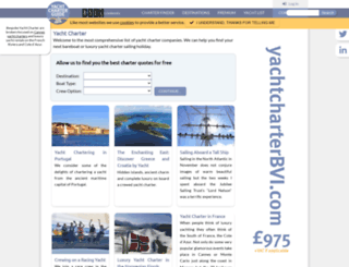 yachtcharterguide.com screenshot