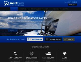 yachtcloser.com screenshot