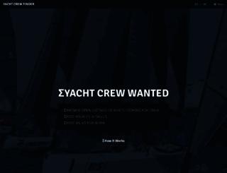 yachtcrewfinder.com screenshot