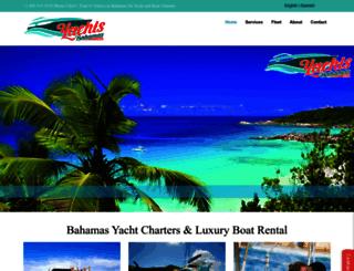 yachtsbahamas.com screenshot