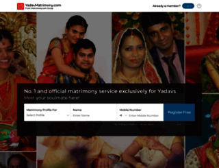 yadavmatrimony.com screenshot