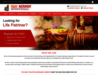yadavmatrimony.net screenshot