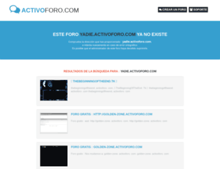 yadie.activoforo.com screenshot