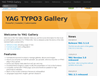 yag-gallery.de screenshot