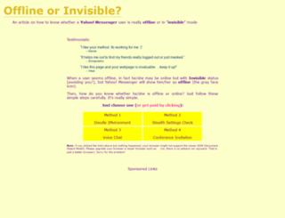 yahoo-invisible.ikitek.com screenshot