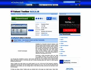 yahoo-toolbar.findmysoft.com screenshot