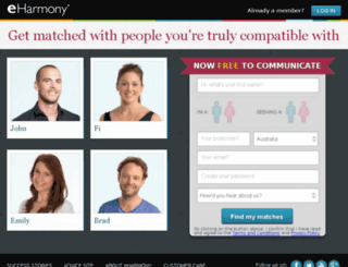 yahoo.eharmony.com.au screenshot