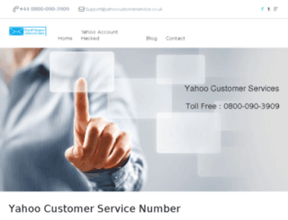 yahoocustomerservice.co.uk screenshot