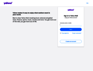 yahoomail.com screenshot
