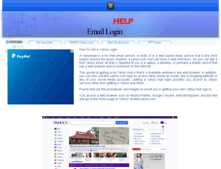 yahoomail.logincare.org screenshot