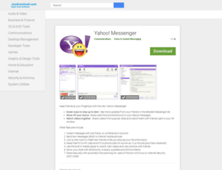 yahoomessenger.joydownload.com screenshot