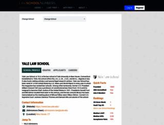 yale.lawschoolnumbers.com screenshot