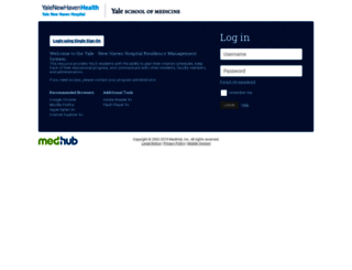 yale.medhub.com screenshot
