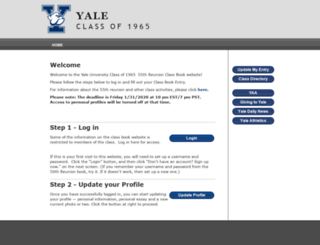 yale65.reuniontechnologies.com screenshot