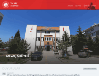 yalvac.adalet.gov.tr screenshot