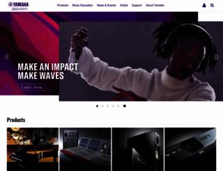 yamaha-europe.com screenshot