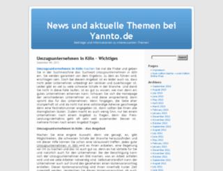 yannto.de screenshot