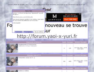 yaoi-x-yuri.0forum.biz screenshot