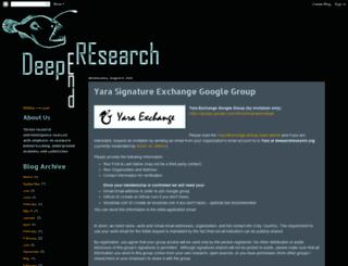 yaraexchange.org screenshot