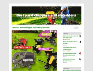 yardchippershredder.com screenshot