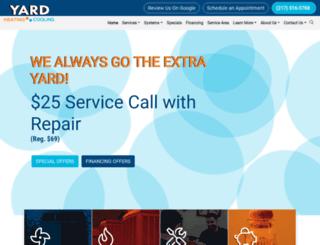 yardheatingandcooling.com screenshot