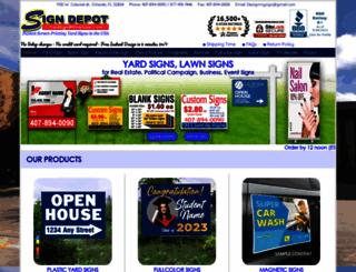 yardsignwholesale.com screenshot