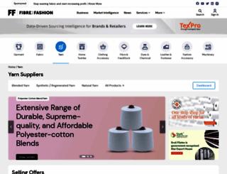 yarn.fibre2fashion.com screenshot